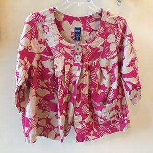 Basic Edition Floral 2 Button Jacket Cover Plus 2X